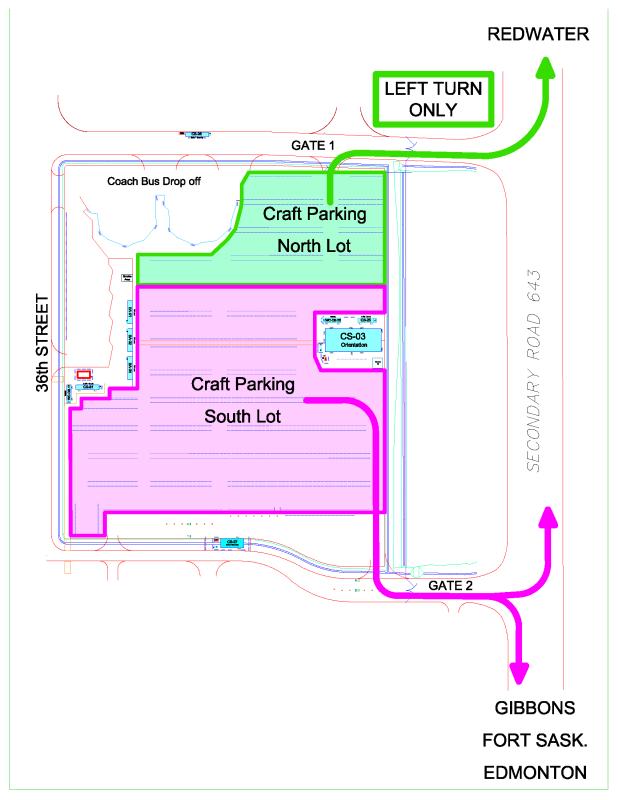 Revised Craft Parking Traffic Map Nov 11