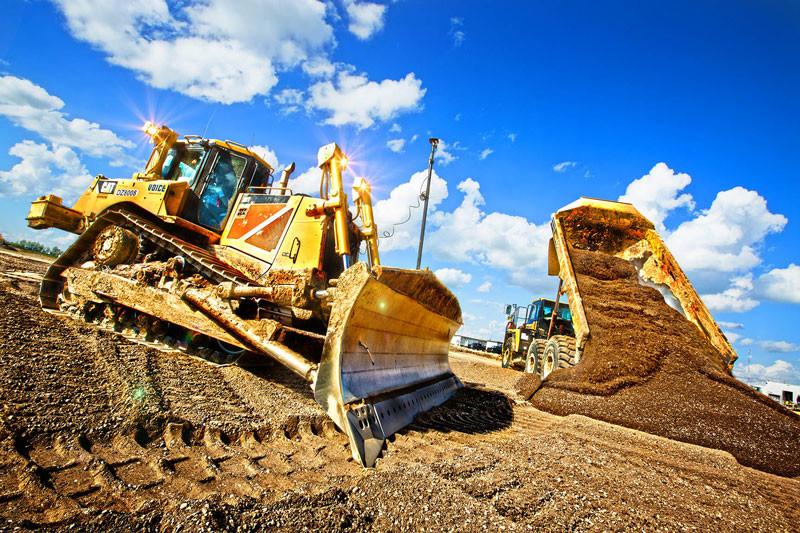 Excavator and Rock truck